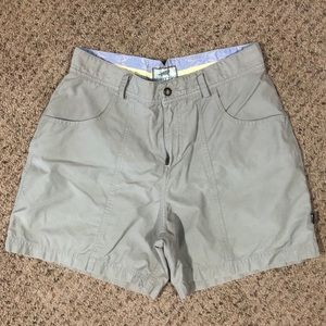 Horny Toad greige outdoor shorts